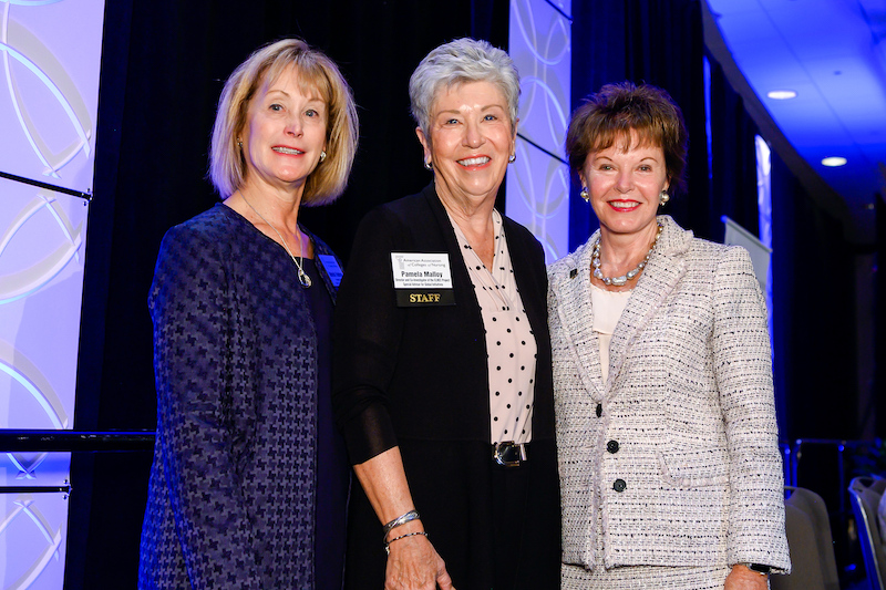 Dr. Pam Malloy with Dr. Deborah Trautman and Dr. Ann Cary