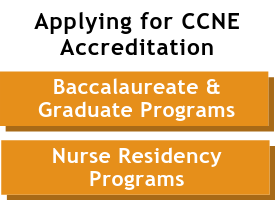 CCNE Accreditation button