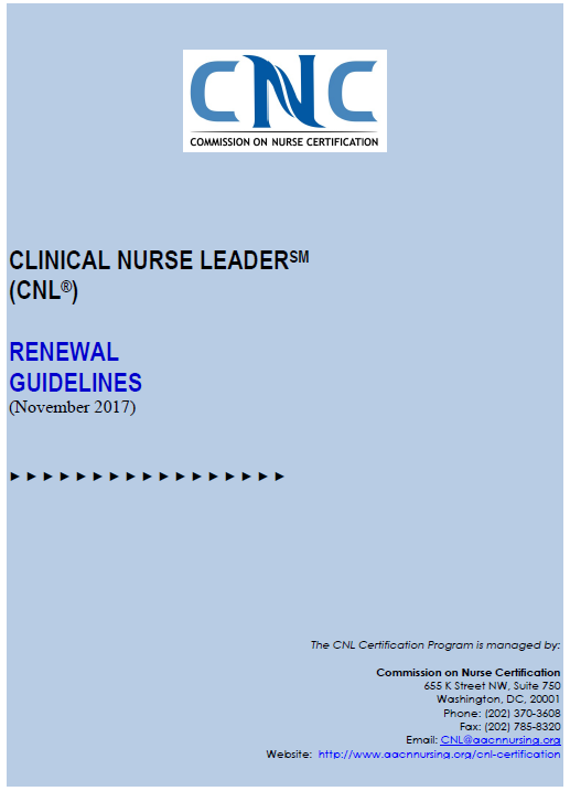 American Association Of Colleges Of Nursing Aacn Cnl
