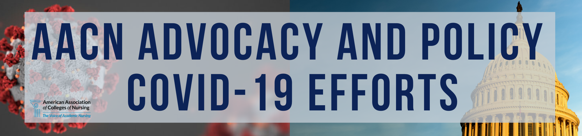 AACN Policy and Advocacy COVID-19 Efforts Banner