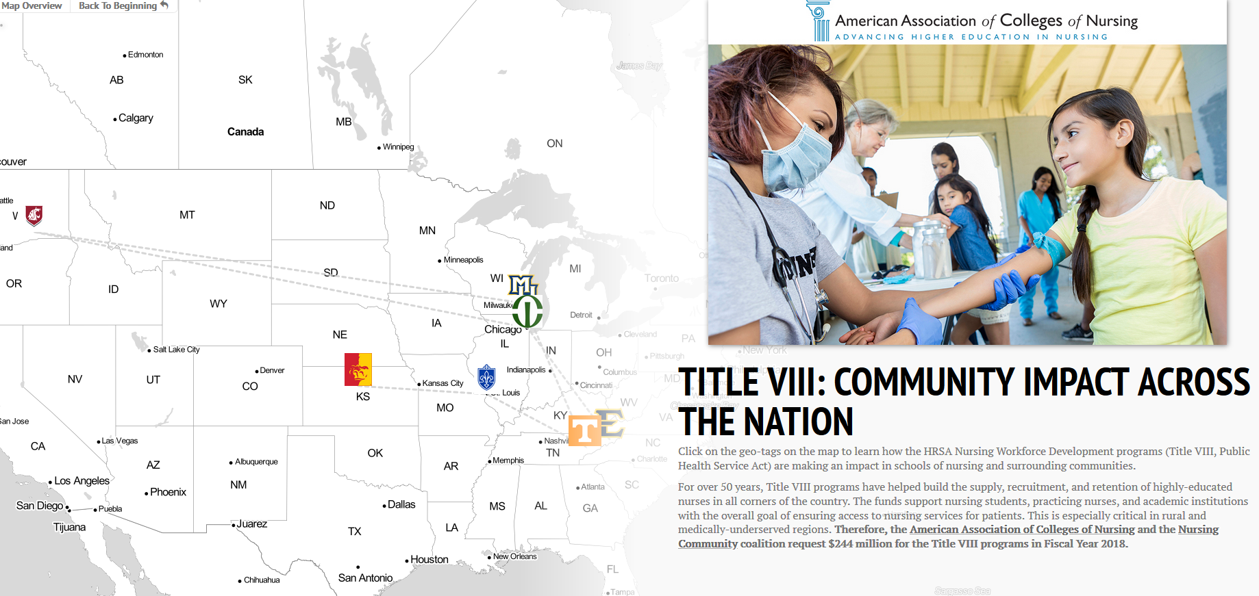 American association of colleges of nursing aacn policy aacn is relaying to congress the ground level community impact of title viii programs view our story map of community profiles from across the nation malvernweather Image collections