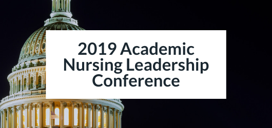 Image of U.S, Capitol Rotunda at Night - 2019 Academic Nursing Leadership Conference