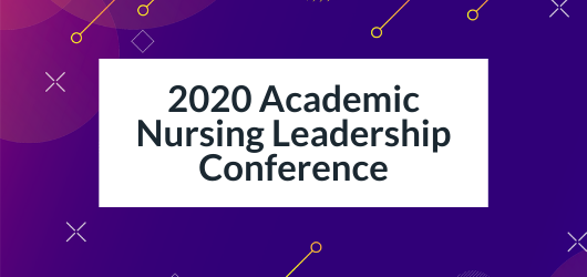 Decorative Image with Text - 2020 Academic Nursing Leadership Conference