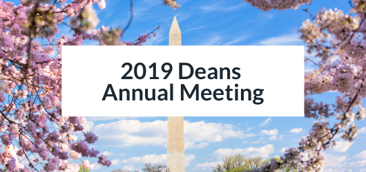 Image of Washington Monument with Cherry Blossoms - 2019 Deans Annual Meeting