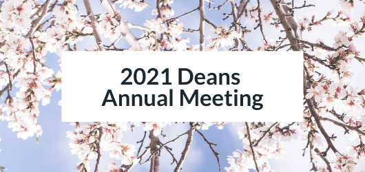 Image of Washington Monument with Cherry Blossoms - 2021 Deans Annual Meeting