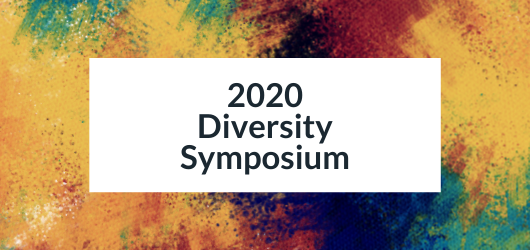 Decorative image with text - 2020 Diversity Symposium