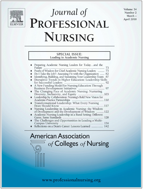 Image of a sample cover of the Journal of Professional Nursing